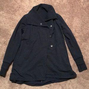 Lululemon cotton fleece button front sweater